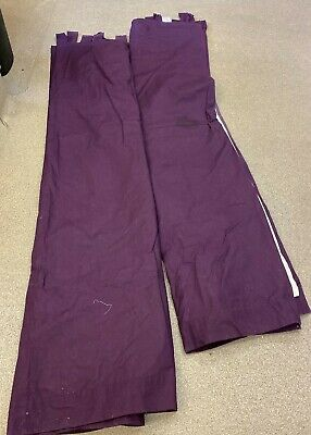Tab Topped Purple Blackout Lined Next Curtains 66  X 72  (D2) • 14.99£
