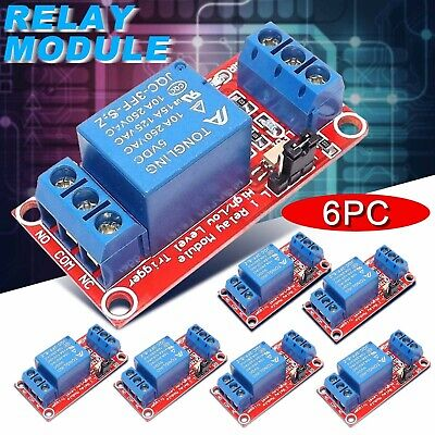 AU15.21 • Buy Arduely Relay Module With 6 5V High Level Relay Channels , Channel Relay Board