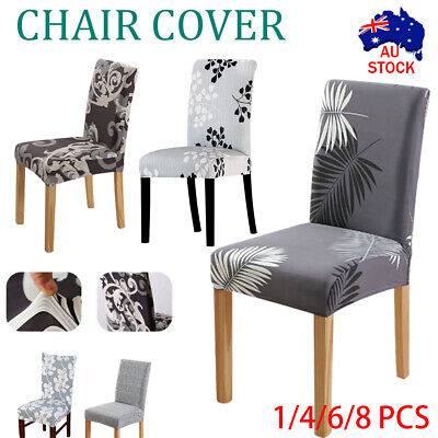 AU5.52 • Buy 1-6 PCS Dining Chair Covers Spandex Cover Stretch Washable Wedding Banquet Party