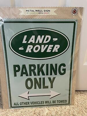 Land Rover Parking Only Metal Sign With Pre Drilled Holes - Garage/ Man Cave • 3£