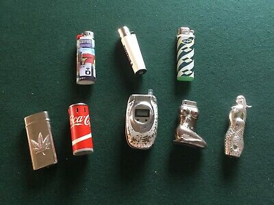 8 Novelty Cigarette Lighters. Old And Unusual. • 12£