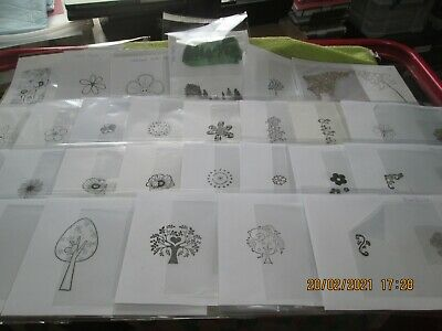 Clear Stamps - Flowers & Trees - 28 Choices - Combined Postage - Offers Welcome • 1£