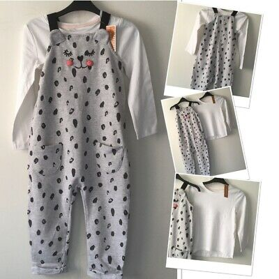 George Exc Used Girls Jogger Cute Dungarees & New Tags Debenhams Top 3-4 Years  • 5.95£