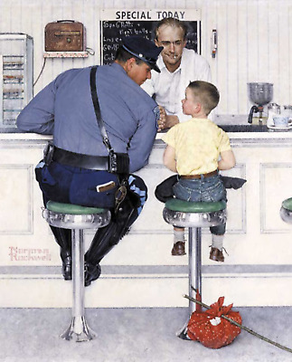 $ CDN15.03 • Buy Print - The Runaway By Norman Rockwell