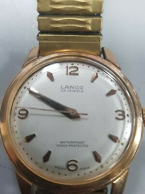 Lanco Gold Plated Vintage Gents Watch Vintage Collectable • 35£