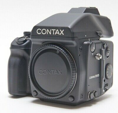 $ CDN1435.64 • Buy Contax 645 Medium Format SLR Film Camera Body + Film Back + Viewfinder Exc Cond!