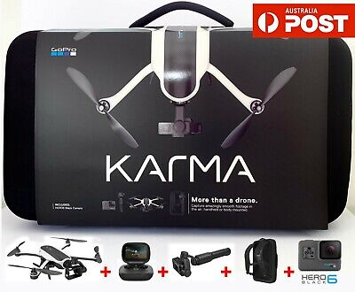 AU1399.90 • Buy GoPro Karma RC White Drone + HERO 6 Black Professional Video 4K Camera + Remote