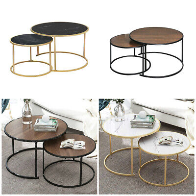 Round Nest Of Tables Coffee Table Side End Table Sofa Corner Home Living Room BN • 81.99£