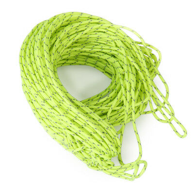 5/10/20m Flourescent Rope Guyline Cord String Camping Tent Awning Accessories • 6.39£