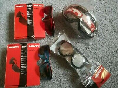 £25 • Buy HILTI Clear Safety Goggles, Glasses, Tinted And Laser Visibility Glasses