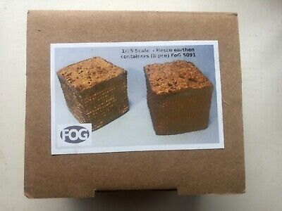 Field Of Glory Models 1:35 Scale Hesco Wire Containers 8 Pce For Dioramas • 3.20£