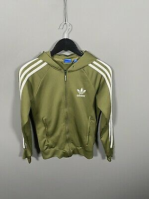 £29.99 • Buy ADIDAS FIREBIRD Hooded Track Top - UK8 - Green - Great Condition - Women's
