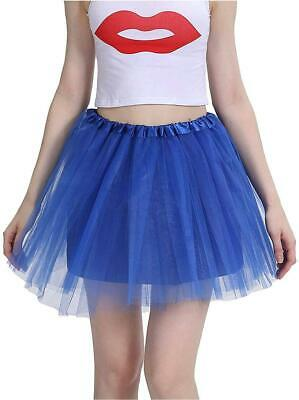 Classic 4 Layered Tulle Tutu For Women's Skirt Royal, Royal Blue, Size One Size • 8.59£