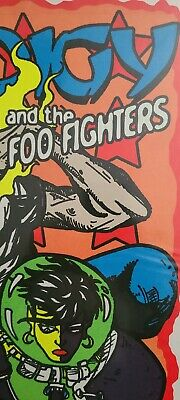 $119 • Buy Foo Fighters Concert Poster 1997 Jermaine Rogers Stockholm Signed Numbered X/150