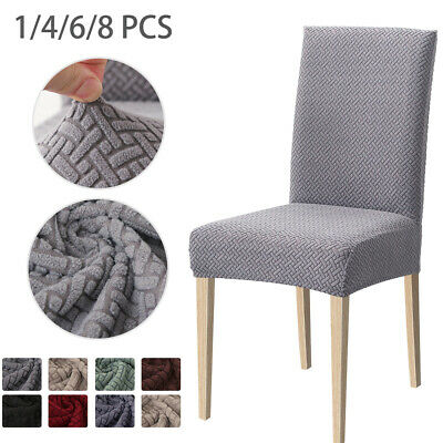 AU33.99 • Buy 1/4/6/8PCS Dining Chair Cover Jacquard Spandex Slipcover Stretch Protector Case