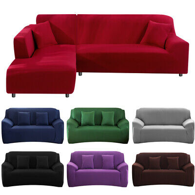 AU20.99 • Buy Sofa Cover Slipcover Protector Couch High Stretch Lounge 1/2/3/4 Seater L Shape
