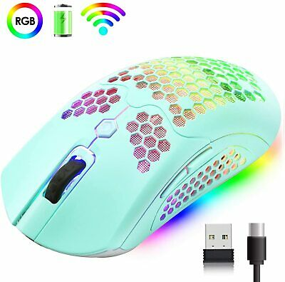 AU36.89 • Buy Honeycomb Shell Wired Wireless Rechargeable USB Gaming Mouse For PS4 PC MAC Xbox