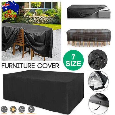 AU28.36 • Buy Outdoor Furniture Cover UV Waterproof Garden Patio Table Chair Shelter Protector