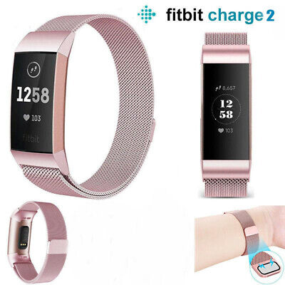 AU8.99 • Buy Fitbit Charge 2 Band Stainless Steel Milanese Loop Metal Wristband Watch Strap