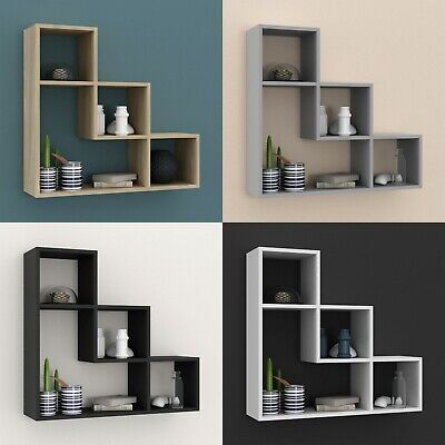 £17.99 • Buy Lyon 3 Step Wooden Floating Wall Mounting Shelf Display Unit Book Storage Deco