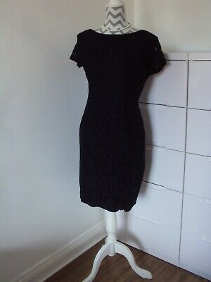 ROMAN Ladies Navy Lace Lined Summer Dress**Size 14 • 10£
