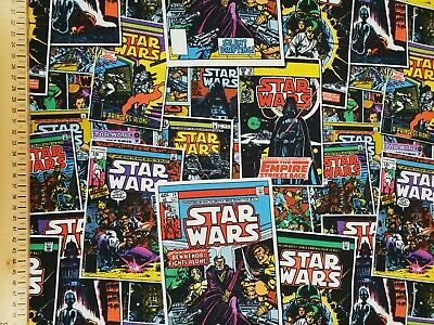 £3.99 • Buy Star Wars Comic Book Fabric UK 110cm X 15cm Approx 100% Cotton Vader Roll End