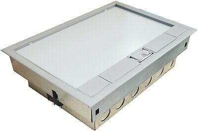 Cavity Floor Electric Box 1x 2G Switched Socket Plate 3 Compartment Access 240V • 999£