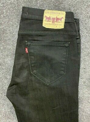 Levi's 519 Regular Slim Fit Pants Jeans Stretch Mens W33 L32 Black Levis #511 • 0.99£