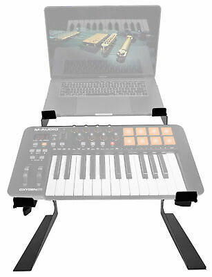 $49.95 • Buy Rockville Dual Laptop+Controller Stand For M-Audio Oxygen 25 MK IV Keyboard