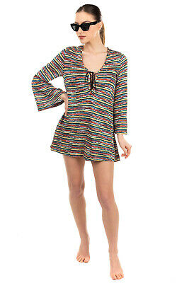 RRP €1110 MISSONI MARE Knitted Beach Dress Size 40 / S Lace Up Made In Italy • 49.99£
