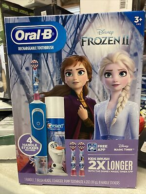 AU35.52 • Buy Oral B Disney's Frozen II Kids Girls Rechargeable Electric Toothbrush New