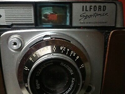 Vintage Ilford Sportsman Camera And Brown Leather Case 35mm Film 1970's • 9.99£
