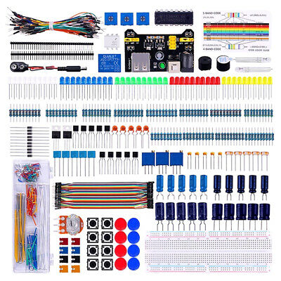 Electronics Component Super Starter Kit With Breadboard Jumper Wire LED ❃ • 19.37£