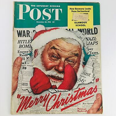 $ CDN125.26 • Buy The Saturday Evening Post December 26 1942  Merry Christmas  By Norman Rockwell