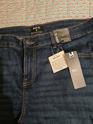 Tu Ladies Blue Denim Bermuda Shorts Size 16 • 4£