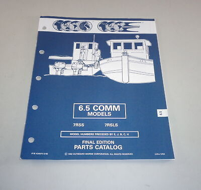 AU31.05 • Buy Parts Catalog Omc Evinrude Johnson Outboard Motor 6.5 Comm Models Stand 05/1992