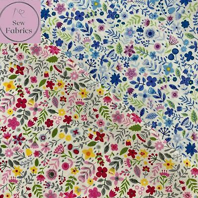 £3.45 • Buy Rose And Hubble Summer Fun Floral Fabric Ditsy Flower Print, 100% Cotton Poplin