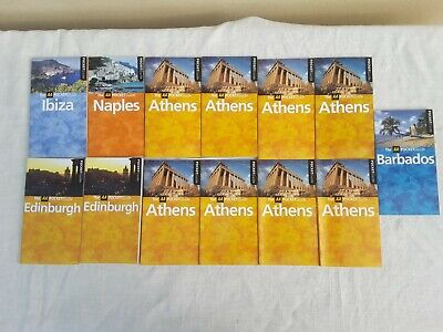 Job Lot AA Travel Guides, Edinburgh, Athens, Barbados, Ibiza, Naples Car Boot • 0.99£