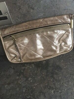 SALE !!! Lanvin Amalia Gold Leather Clutch Bag 100% Genuine • 34.99£