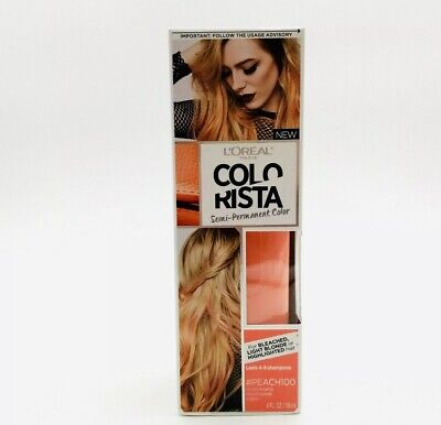 L'Oreal Paris Colorista Semi-Permanent Hair Color Peach #100 Paint On Hair-NEW • 7.07£