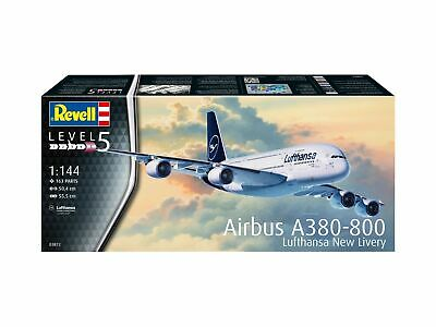 Airbus A380-800 Lufthansa New Livery 1:144 Plastic Model Kit Revell • 33.54£
