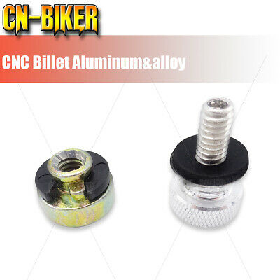 $4.50 • Buy Chrome Rear Seat Bolt Nut Base Aluminum Screw Mount Kit For 1996-2021 Harley