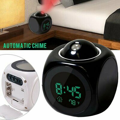AU23.94 • Buy Projection Alarm Clock Temperature Digital LED Voice Talking LED Time Projector