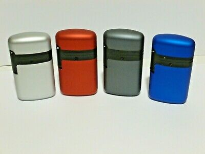£3.20 • Buy Lighter Prof Windproof Double Turbo Jet Gas  Refillable  4 Metal Colours