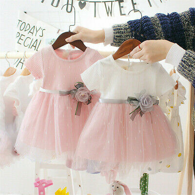 UK Baby Girls Kids Party Princess Tutu Dress Pageant Birthday Dresses Easter Day • 6.99£