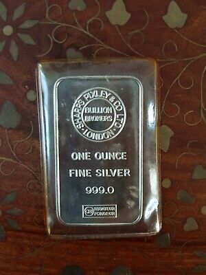 1oz Silver Bar - Sharps Pixley & Co London - Silver Ingot • 30£