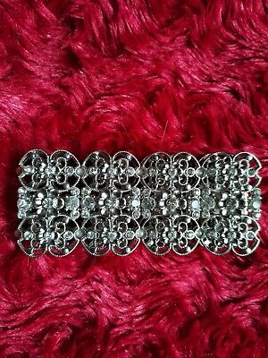 Cuff STRETCH Silver Colour Bracelet • 3£