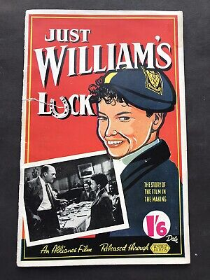 JUST WILLIAMS LUCK The Making Of The Film 1948 Richmal Crompton  • 5£
