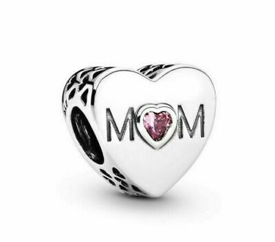 Pandora Pink Mum Heart Moments Charm Sterling Silver S925 ALE 791881PCZ UK Stock • 9.99£