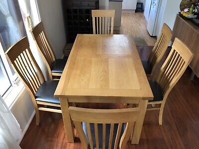 AU138 • Buy Oak Dining Table And 6 Chairs